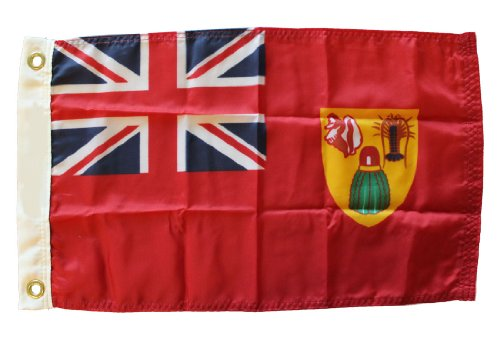 Turks and Caicos (Red Ensign) - 12 in x 18 in Nylon World Flag