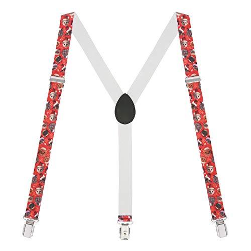 HDE Y-Back Suspenders for Men Clip On Adjustable Elastic 1