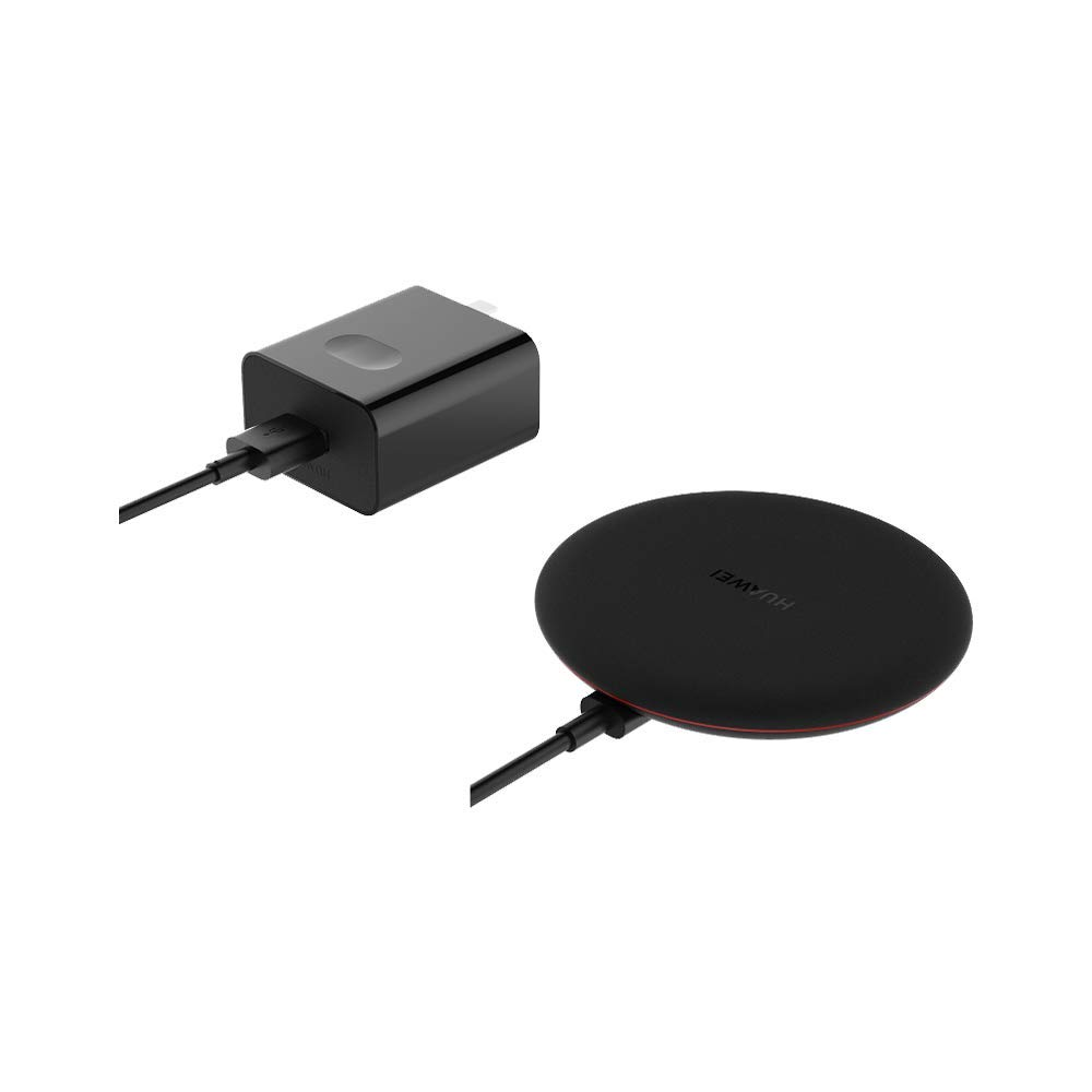 HUAWEI Wireless Charge, 15W (Max) Quick Wireless Charge, Universal Compatibility, Comprehensive Safety Protection,Foreign Object Detection, Contains Original Type-c Data Cable, Set Version, Black