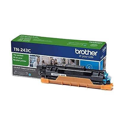 Brother TN243C - Cartucho de tóner cian original, para las impresoras HLL3210CW, HLL3230CW, HLL3270CW, DCPL3510CW, DCPL3550CW, MFCL3710CW, MFCL3750CW, ...