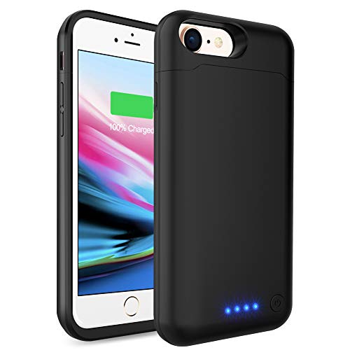 Battery Case for iPhone 6 6s, LCLEBM 6000mAh Portable Protective Charging Case Compatible with iPhone 6/6s (4.7 inch) Rechargeable Power Bank Extended Battery Charger Case-Black