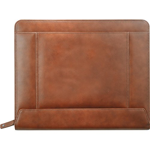 Cutter & Buck Legacy Leather Zippered Pad Folio, Brown