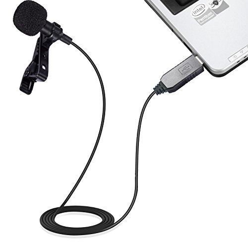 Mic for Computer, PChero USB Lavalier Clip-on Omnidirectional Condenser Microphone for Laptop PC Macbook, Perfect for Interviews, Skype, Audio Video Youtube Recording, QQ, MSN, Skypee, Podcast by PChero (Image #1)