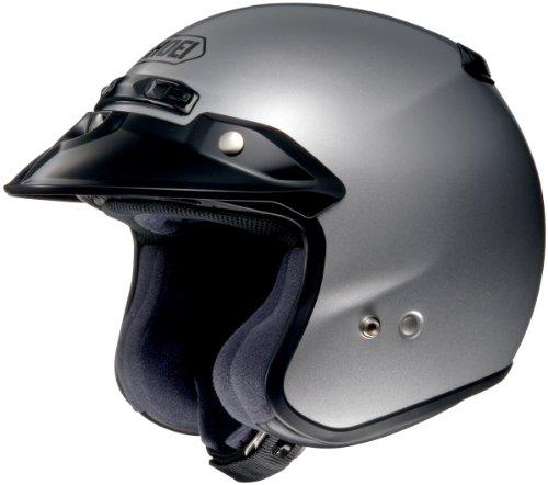 Shoei RJ Platinum R Light Silver Open Face Helmet - 2X-Large