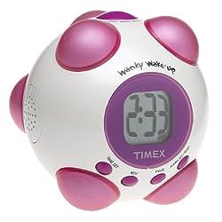 Timex Wacky Shake and Wake Alarm Clock (White/Pink)