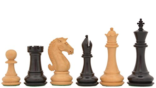 Pieces Double Staunton Chess Weighted (Chessbazaar The Staunton Series Double Weighted Chess Pieces In Ebony & Box Wood)
