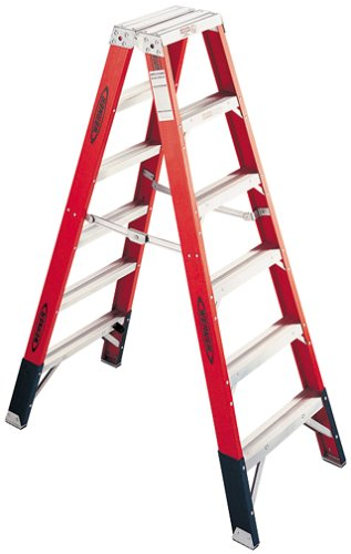 Werner T7412 375-Pound Duty Rating Fiberglass Multi-Use Twin Ladder, 12-Foot