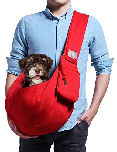 Front facing dog carrier sling for medium and small dogs