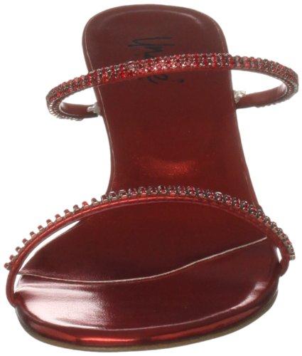 mujer Evening Sandals Sandalias Unze Rojo para L18782W nOpBwUT