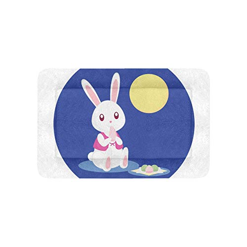 Rabbit Moon Light Night Extra Large Bedding Soft Pet Dog Beds Couch for Puppy and Cats Furniture Mat Cave Pad Cover Cushion Indoor 36x23 Inch