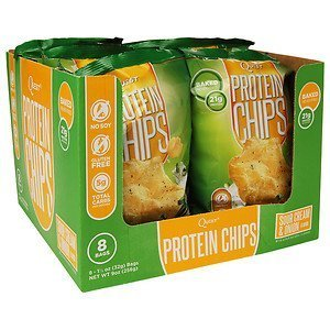 Quest Nutrition Quest Protein Chips, Sour Cream & Onion 8-1 1/8oz (32g) Bags NET wt-9oz(256g)