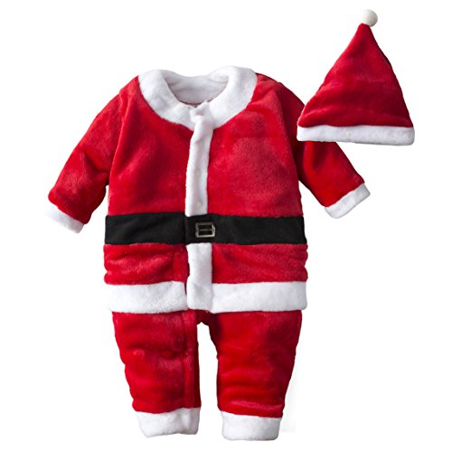 Big Elephant Baby Boysu0027 One Piece Christmas Long Sleeve Jacket with Hat H17 (12-18 Months)  sc 1 st  Amazon.com & Babyu0027s Christmas Outfit: Amazon.com