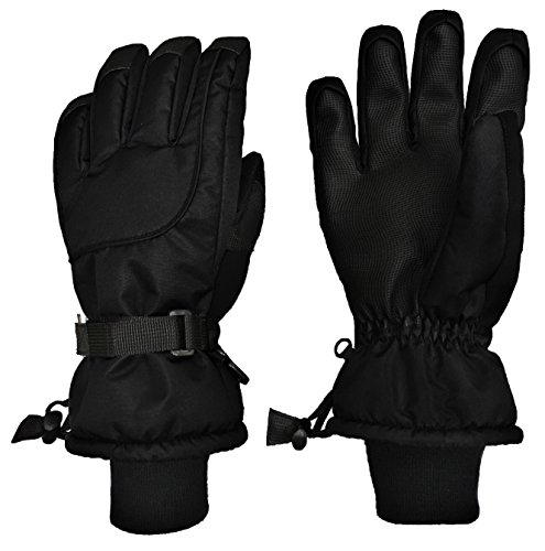Nice Caps Adults Unisex Extreme Cold Weather 80 Gram Thinsulate Waterproof Ski Gloves  Mens Large X Large  Black