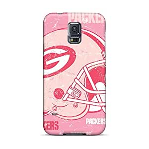 Shock-Absorbing Hard Phone Covers For Samsung Galaxy S5 With Custom Lifelike Green Bay Packers Series TraciCheung