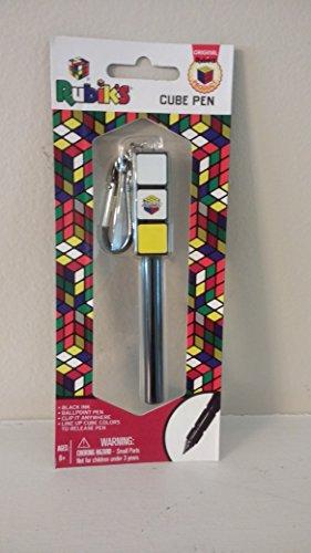 Rubik's Pen with Carabiner Clip-Features: Twist top to open (Puzzle Pen)