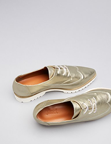 Brogues Oro Scarpe FIND Gold Donna qPTwO