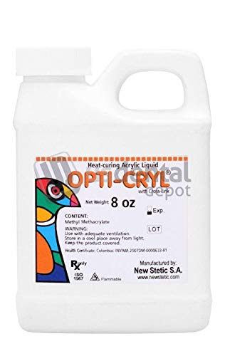 Opticryl Dental - Heat Cure Monomer Only 8oz (Acrylic Resin Liquid) veracryl - This product can only be shipped by ground transportation- it cannot be shipped by air. Intern 100249 Us Dental Depot