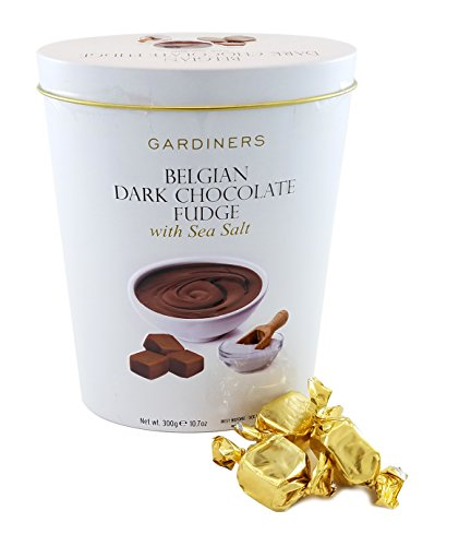 (Gardiners of Scotland Belgian Dark Chocolate Fudge, Sea Salt, 10.7 Ounce)