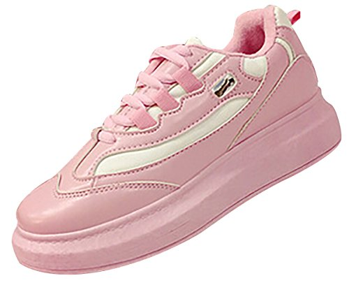 Laruise Women's Sports and Leisure Shoes Pink vlhQfl37
