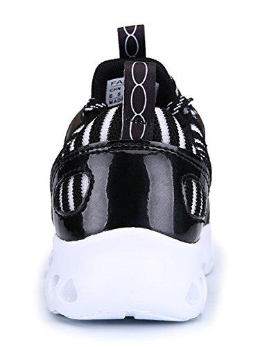IIIIS-R Hombre Zapatillas de Senderismo Deportivas Aire Libre y Deportes Monta?a y Asfalto Zapatos para Correr Running Malla Transpirable Casuales negro