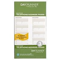 Day Runner Undated Planner Reposición de teléfonos y direcciones, 3.75 x 6.75 pulgadas (013-230)