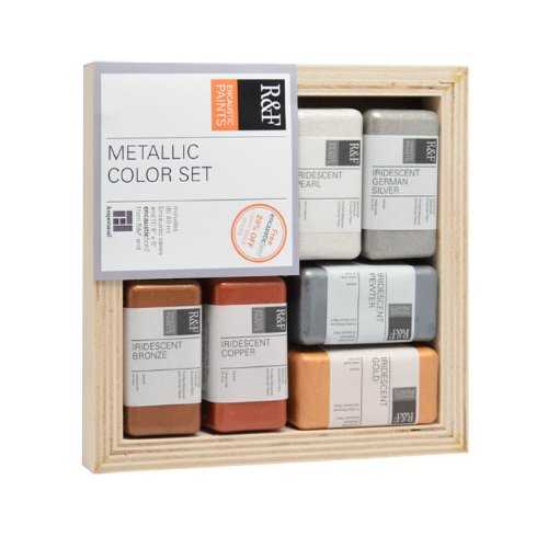 R&F Encaustic Paints Metallic Colors, Set of 6