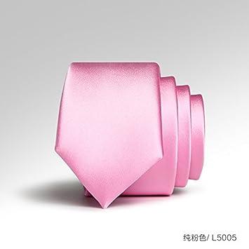 GENTLEE TIE versión coreana de la corbata rosa hombres y versión ...