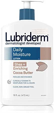 Lubriderm Daily Moisture Lotion Shea + Enriching Cocoa Butter, For Dry Skin 16 Fl. Oz.