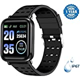 KITRONICS A6 Fitness Tracker Fit Band Activity Tracker Heart Rate Monitor, Sleep Monitor, Calore Burned OLED Display Activity Tracker Bracelet Wristband USB Charging for Android iOS (Black)