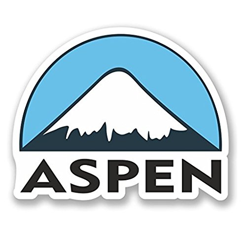 3 Pack - Aspen USA Ski Snowboard Vinyl Sticker Decal - Sticker Graphic - Construction Toolbox, Hardhat, Lunchbox, Helmet, Mechanic, Luggage