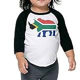 QPKMRTZTX0 Boys Girls Kids & Toddler South Africa Flag Rhino-1 Long Sleeve Tees 100% Cotton