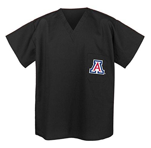 Official University of Arizona Scrub Shirts - Best Arizona Wildcats Scrubs XXL Black ()