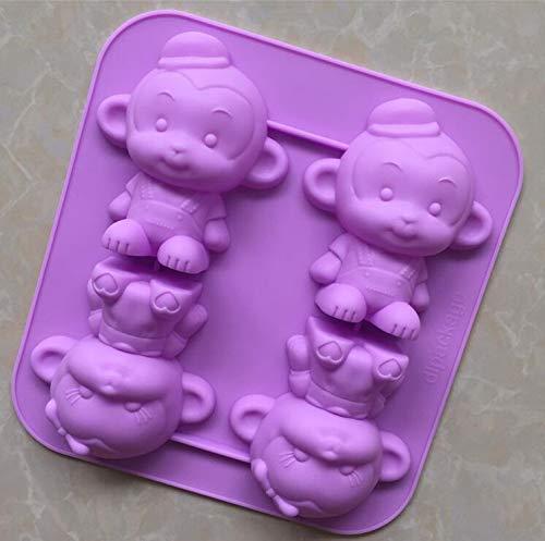 Best Gibson Bakewares - 3D Monkey Cake Mold Soap Mold