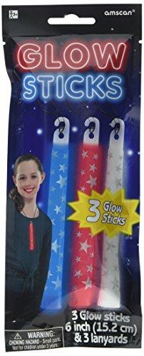 Patriotic Party Printed Glow Sticks, 6