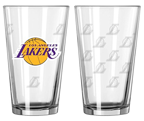(Boelter Brands NBA Los Angeles Lakers 150632 Pint Glass, Clear, One Size)