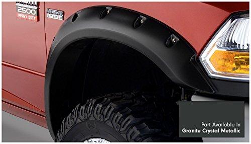 Bushwacker-50919-65-Granite-Crystal-Metallic-Pocket-Style-Fender-Flare-for-RAM-Set-of-4