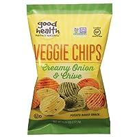 Good Health Creamy Onion & Chive Veggie Chips, Non GMO Verified- 6.25 oz. Bag (4 Bags)