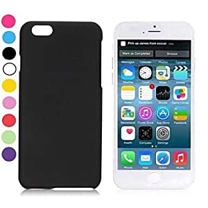 LIMME Simple Solid Color Rubber Coated PC Hard Cover for iPhone 6(Assorted Colors) , Blue