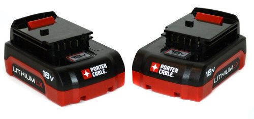 Porter Cable PC18BLX 18V Lithium Ion 1.3ah 2-Pack Batteries