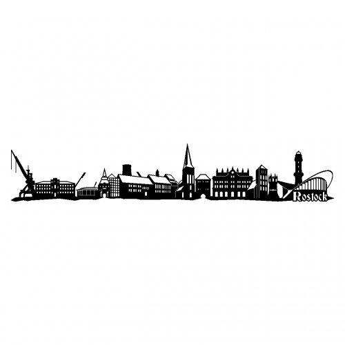 Wandtattoo Rostock rostock wandtattoo stadt collage rostock wandsticker in 6 größen und