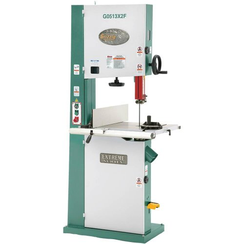 Grizzly G0513X2F 2 HP Extreme-Series Bandsaw with Cast-Iron Trunnion and Foot Brake, (Series Saw)