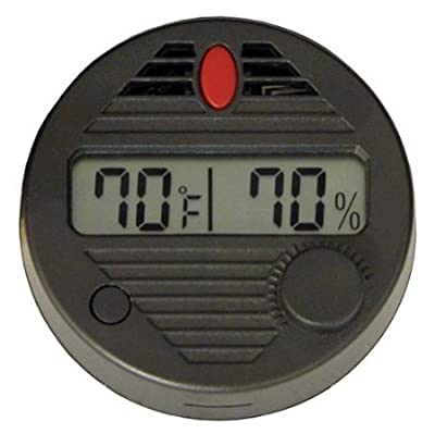 Windspeed Round Digital Hygrometer Thermometer with Lcd Display for Humidor