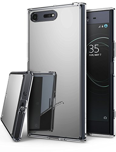Ringke [Fusion Mirror] Compatible with Sony Xperia XZ Premium Case Bright Reflection Radiant Luxury Mirror Bumper Shock Absorption Technology Slim Stylish Protective Cover - Silver