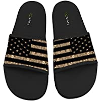 TA-TA FROG USA Grunge National Flag Fashion Slide Sandals Indoor & Outdoor Slippers