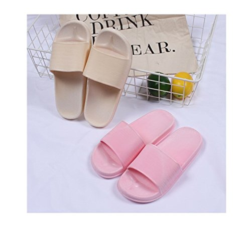TELLW Bathroom Slippers for Male Female Summer Home Indoor Anti-Slip Thick Bottom Cool Slippers Women Pink 940KPv8aYY