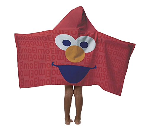 Elmo Hooded Cotton Kids Towel: Bath, Pool, Beach - Sesame Street Jay Franco & Sons Inc.