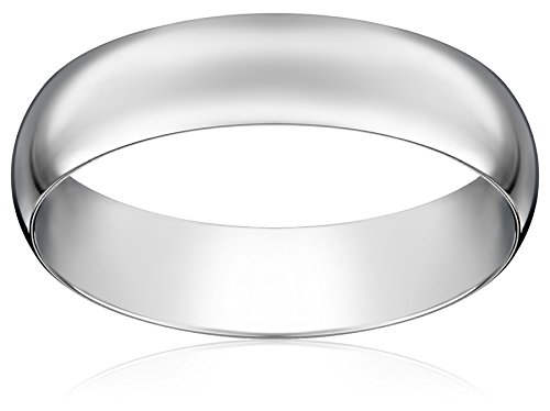 Light Comfort Fit Platinum Band, 5mm, Size 9 by Amazon Collection