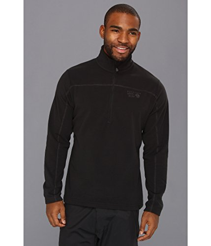 Mens Microchill Zip - Mountain Hardwear Microchill Zip T - Men's Black XX-Large