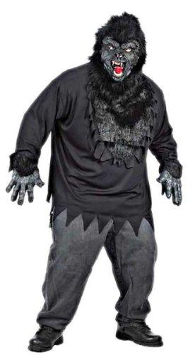 Black Gorilla Adult Mens Plus Size Costumes (Gorilla Costume Adult Plus Size)