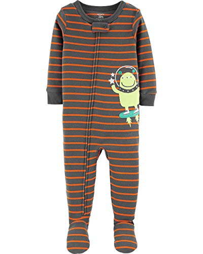 - Carter's Baby Boys' Cotton Zip-Up Sleep N Play (24 Months, Alien/Striped)